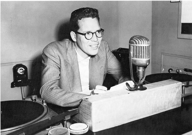 Bill Reid at the CBC, c.1950. Courtesy of the CBC.