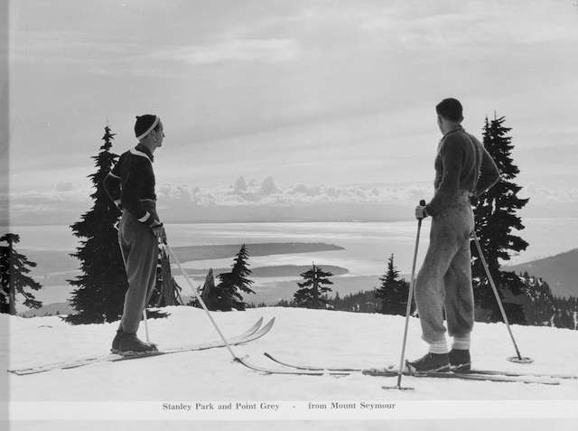 1950 - View of Stanley Park and Point Grey from Seymour. Archives# CVA 586-5087.