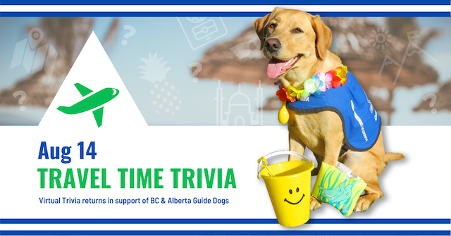 Travel Time Trivia for BC AB Guide Dogs