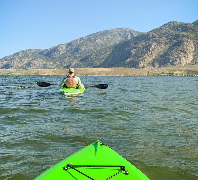 Kayaking on Osoyoos Lake