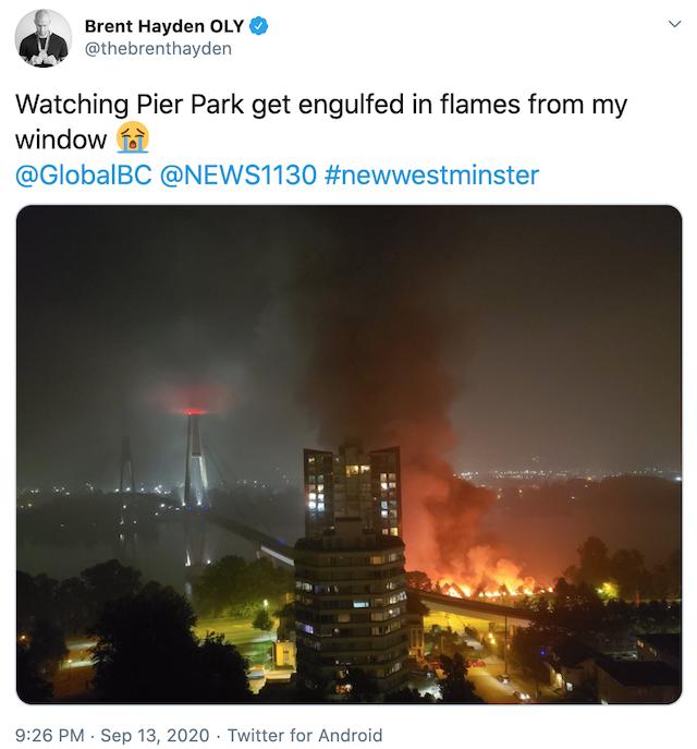 Brent Hayden New West Fire