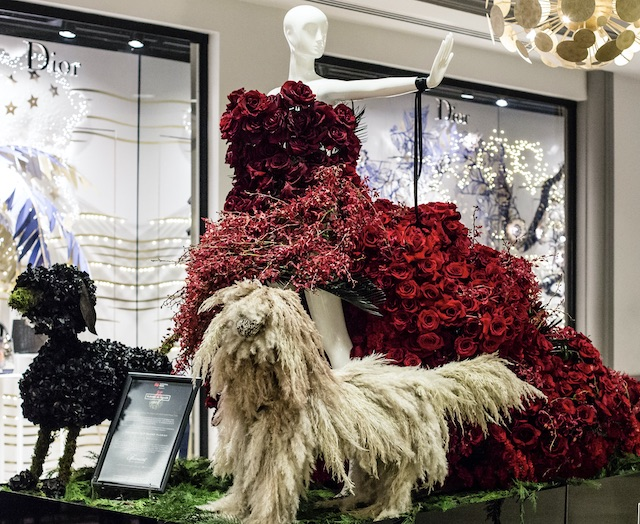 Fairmont Hotel Vancouver mannequin created by Granville Island Florist