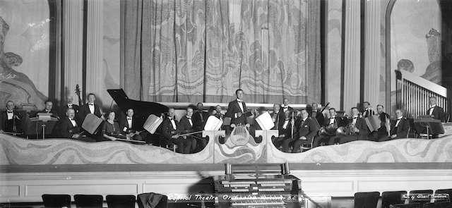1921 - Capitol Theatre Orchestra. Stuart Thomson Photo. Archives # CVA 99-5284