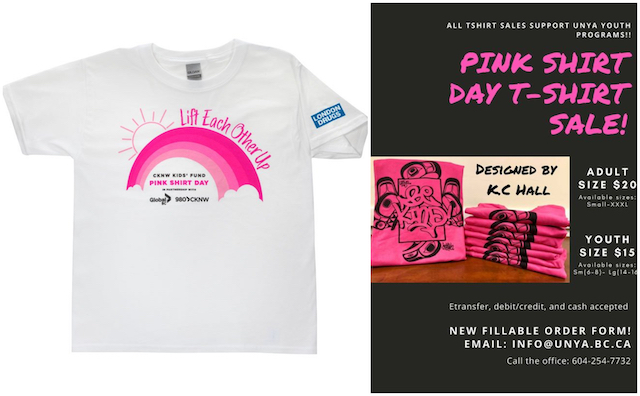 Where to Get Your Pink Shirt Day T-Shirt in Vancouver