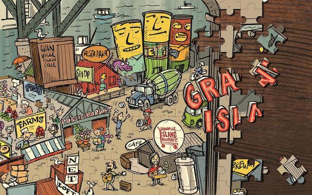 Granville Island Puzzle - Credit- Lorne Craig Unicycle Creative