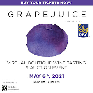 GrapeJuice Wine Auction for Big Sisters BCLM