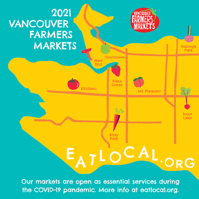Vancouver Summer Farmers Markets 2021