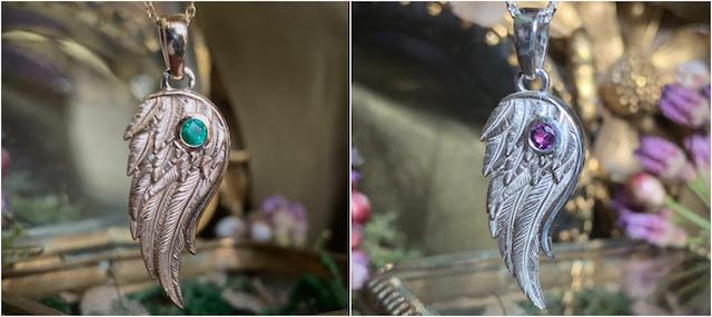 guardian angel wing pendant