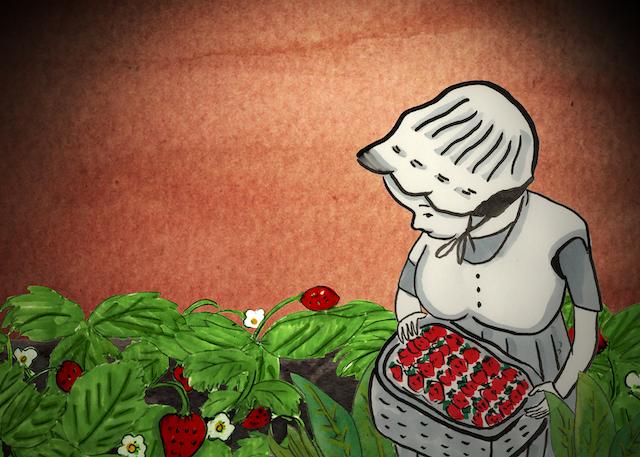 Cindy Mochizuki, Autumn Strawberry, 2021, animation still. Photo courtesy of artist.