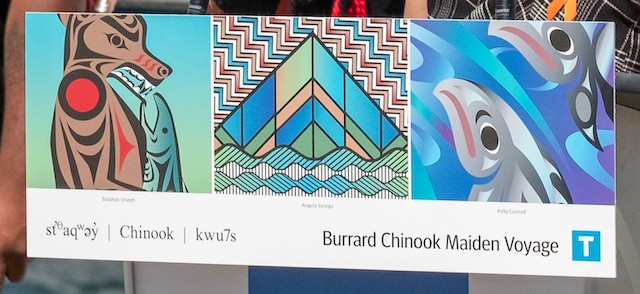 Close up of some of the artwork. Photo credit: TransLink.