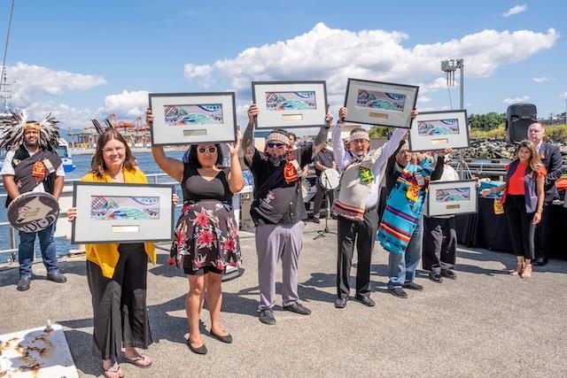 Burrard Chinook artists. Photo credit: Translink