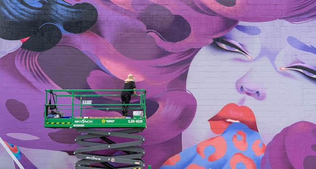 ONEQ. Photo credit Gabriel Martins - Vancouver Mural Festival
