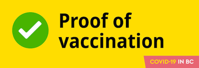 BC Vaccine Card & Proof of Vaccination