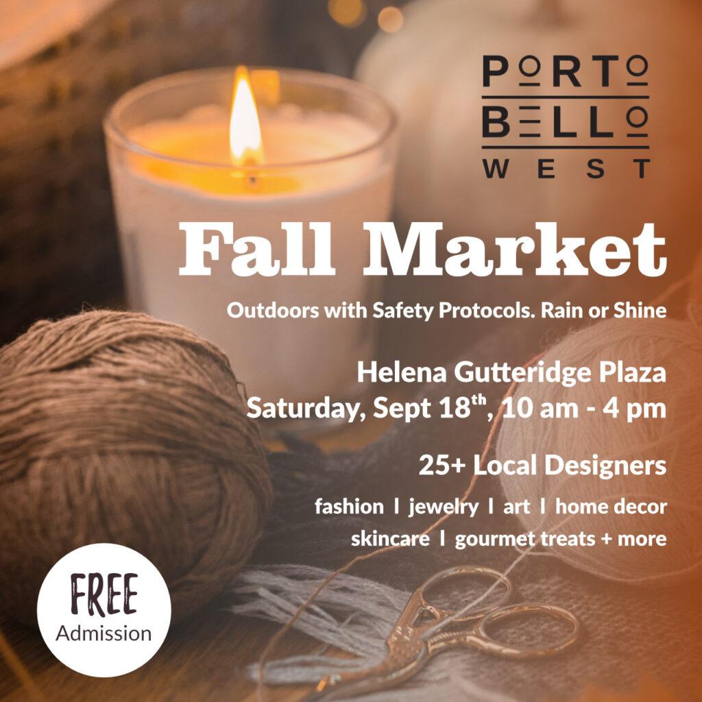Portobello West Fall Market Sept 18