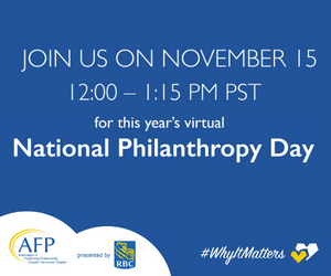 National Philanthropy Day in Vancouver