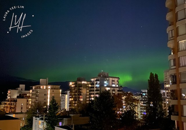 Aurora Borealis from Downtown Vancouver by Laura Lee-Yim